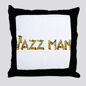 Jazz man sax saxophone Throw Pillow